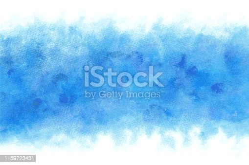 Pastel color summer blue water abstract or natural grunge watercolor paint background