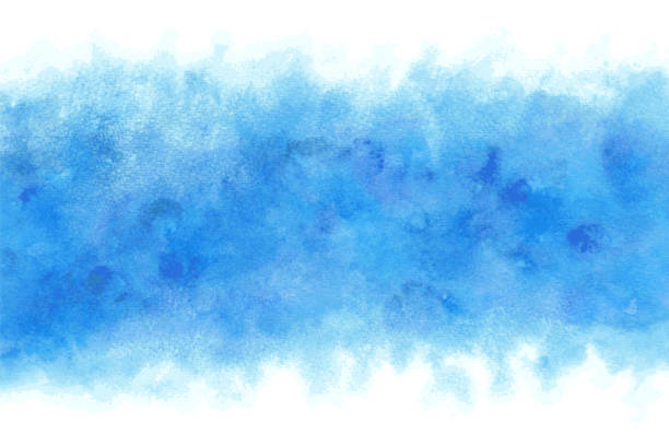Pastel color summer blue water abstract or natural watercolor paint background Pastel color summer blue water abstract or natural grunge watercolor paint background blue sky stock illustrations