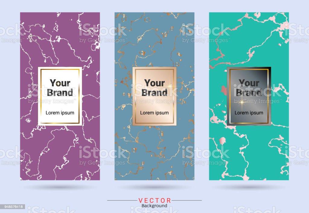 Pastellfarben Und Gold Verpackungsprodukt Designvorlagen