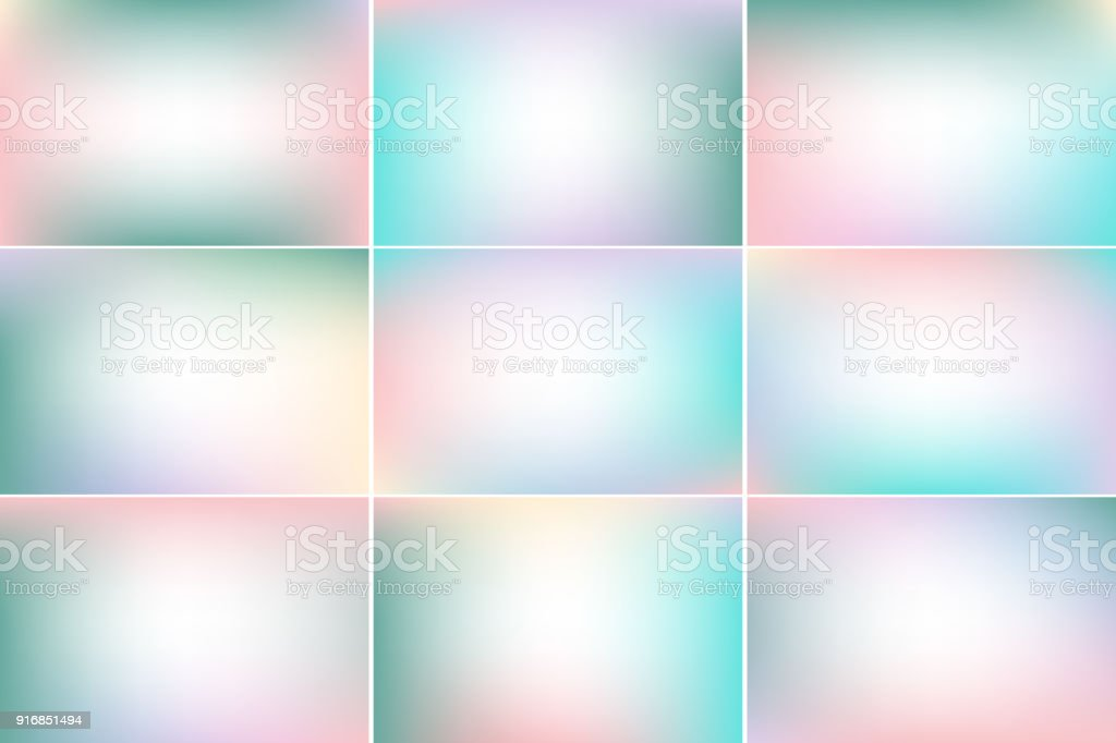 Pastel colors sky banners. Green and pink. Gradient vector backgrounds collection vector art illustration