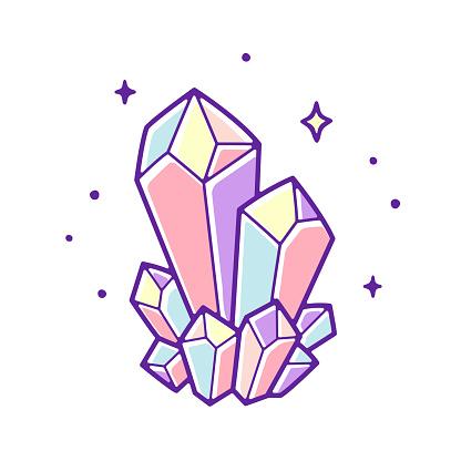 Pastel crystal gems