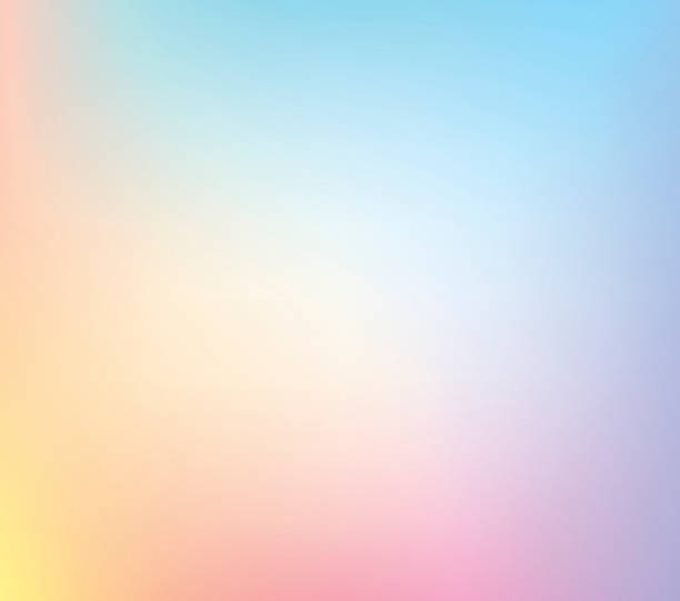 defocus pastelowych multi kolor gradient pień wektor tle - pastelowy kolor stock illustrations