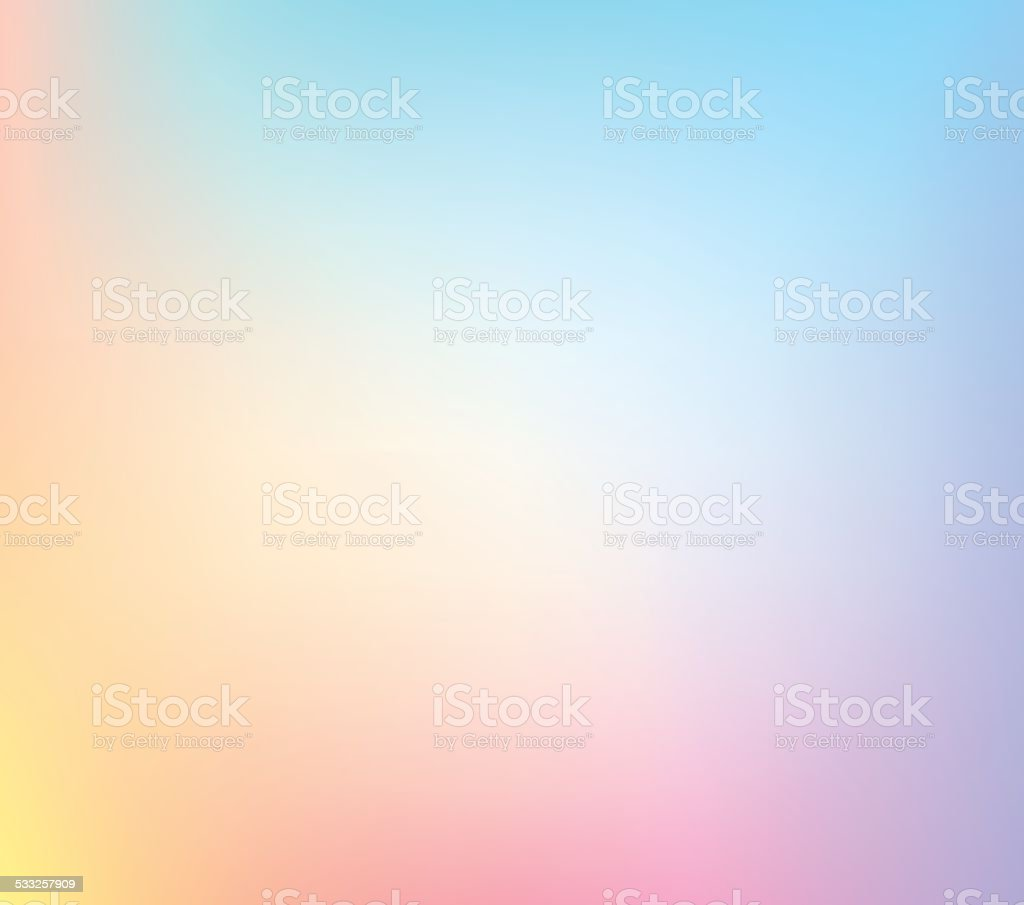 Pastel Defocus Multi Color Gradient Stock Vector Background vector art illustration