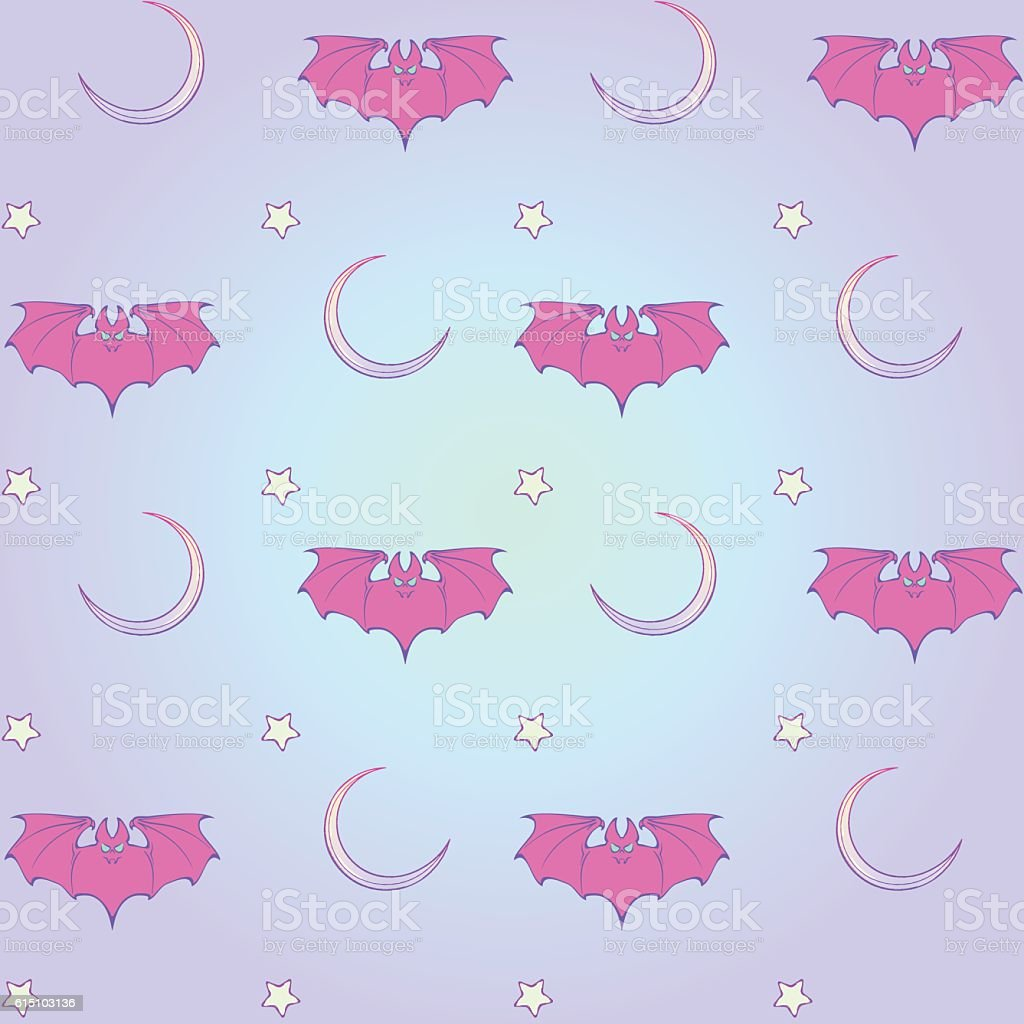 Wonderful Wallpaper Halloween Pastel - pastel-goth-moon-and-bats-seamless-pattern-vector-id615103136  Perfect Image Reference_14618.com/vectors/pastel-goth-moon-and-bats-seamless-pattern-vector-id615103136