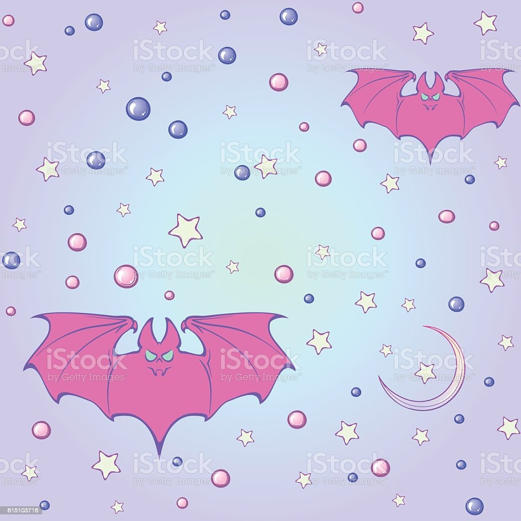 Cool Wallpaper Halloween Pastel - pastel-goth-moon-and-bats-seamless-pattern-vector-id615103716  You Should Have_811529.com/vectors/pastel-goth-moon-and-bats-seamless-pattern-vector-id615103716