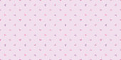 Pastel hearts seamless pattern vector background