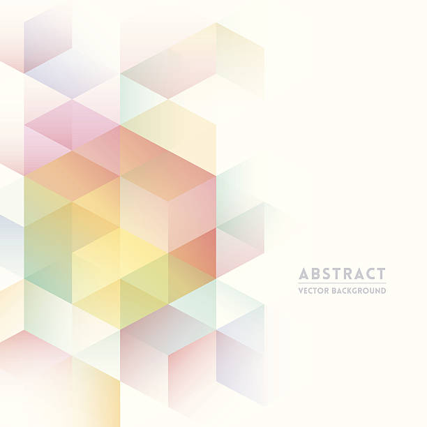 Pastel isometric shapes for abstract background Abstract Isometric Shape Background for Business / Web Design / Print / Presentation high key stock illustrations