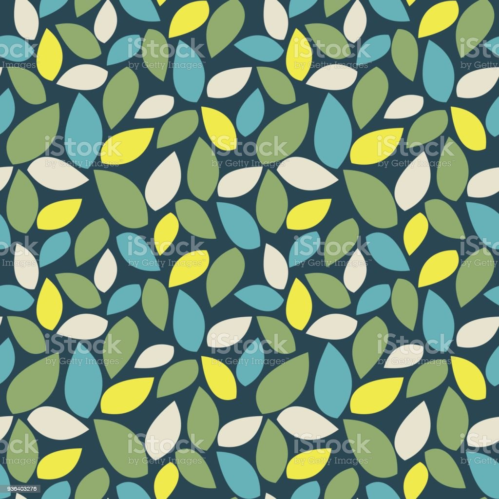 Pastel Leaves Seamless Pattern Simple Botanical Ornament