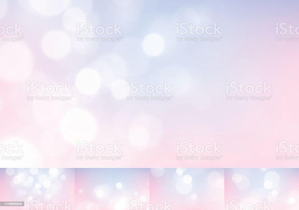 Pastel Lights Stock Vector Backgrounds Blurry Defocus Bokeh Collection vector art illustration