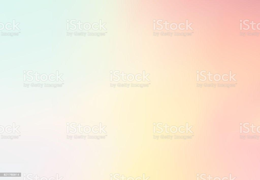 Pastel Multi cor gradiente de fundo Vector, formulário simples e mistura com gráfico de fundo contemporânea de espaço de cópia. Vector - ilustração de arte em vetor