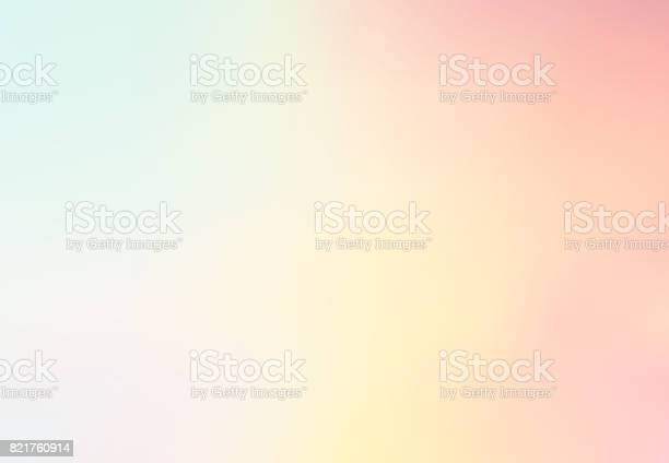Pastel Multi Color Gradient Vector Background,Simple form and blend with copy space contemporary background graphic. vector illustration