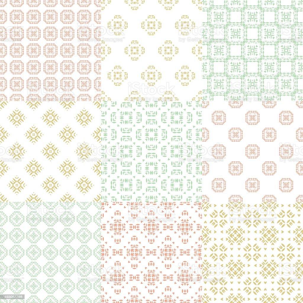 Pastel Pattern vector art illustration