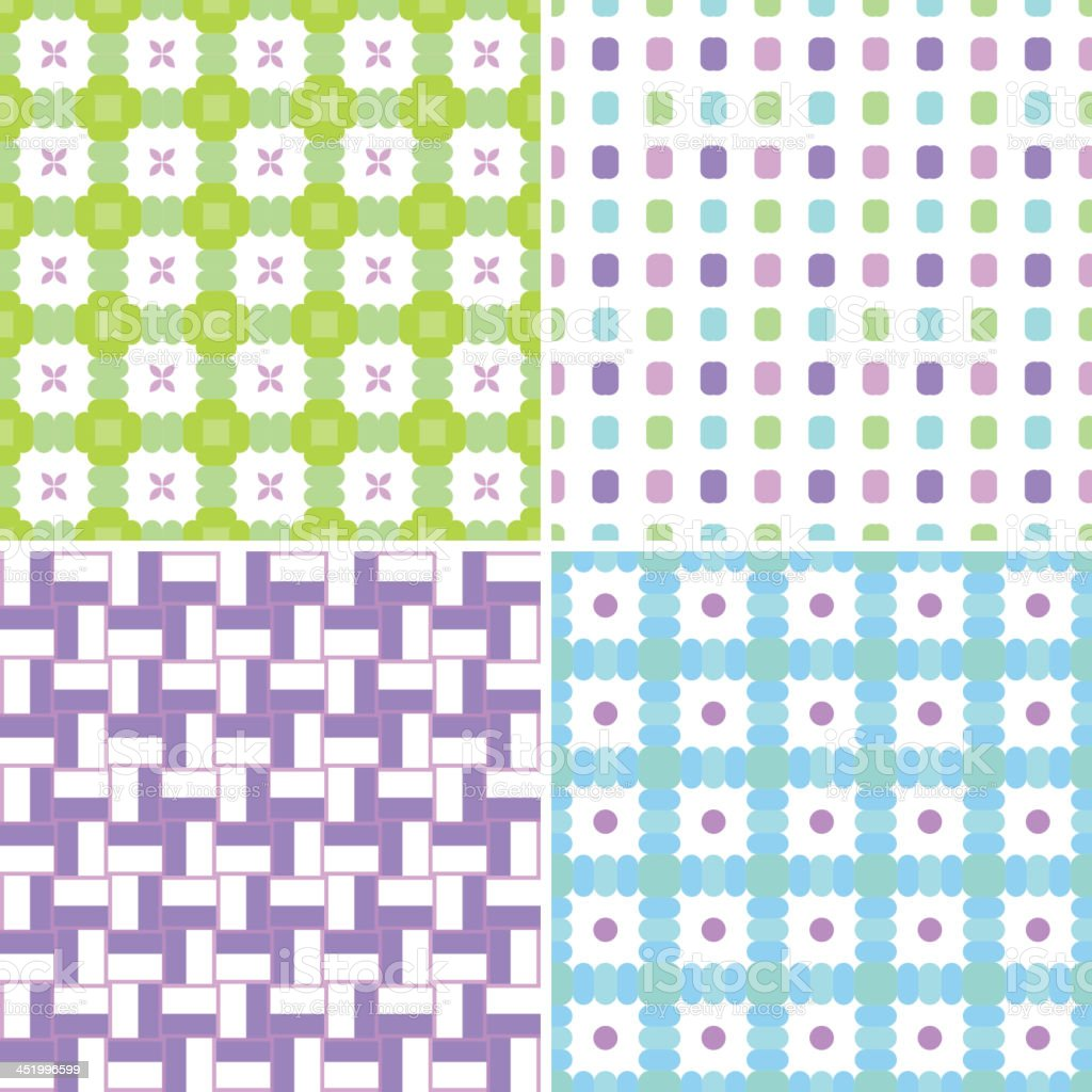 Pastel patterns royalty-free stock vector art