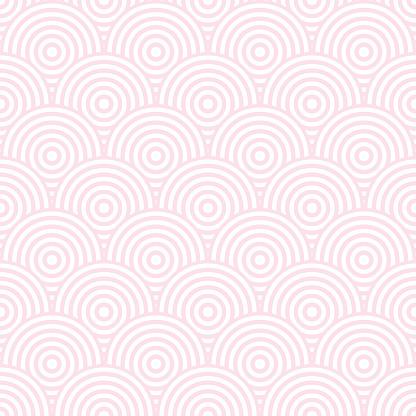 Pastel pink art deco fish scales design, pattern background.