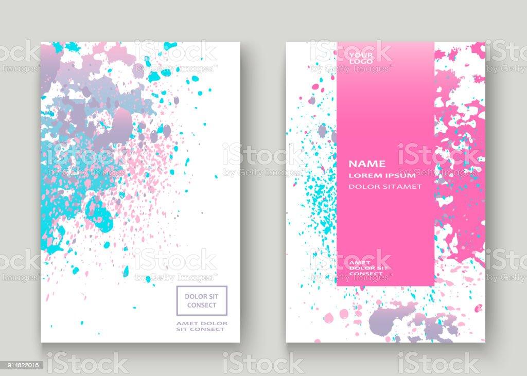 pastell rosa cyan explosion farbe splatter k nstlerische coverdesign fluid gradient staub splash. Black Bedroom Furniture Sets. Home Design Ideas