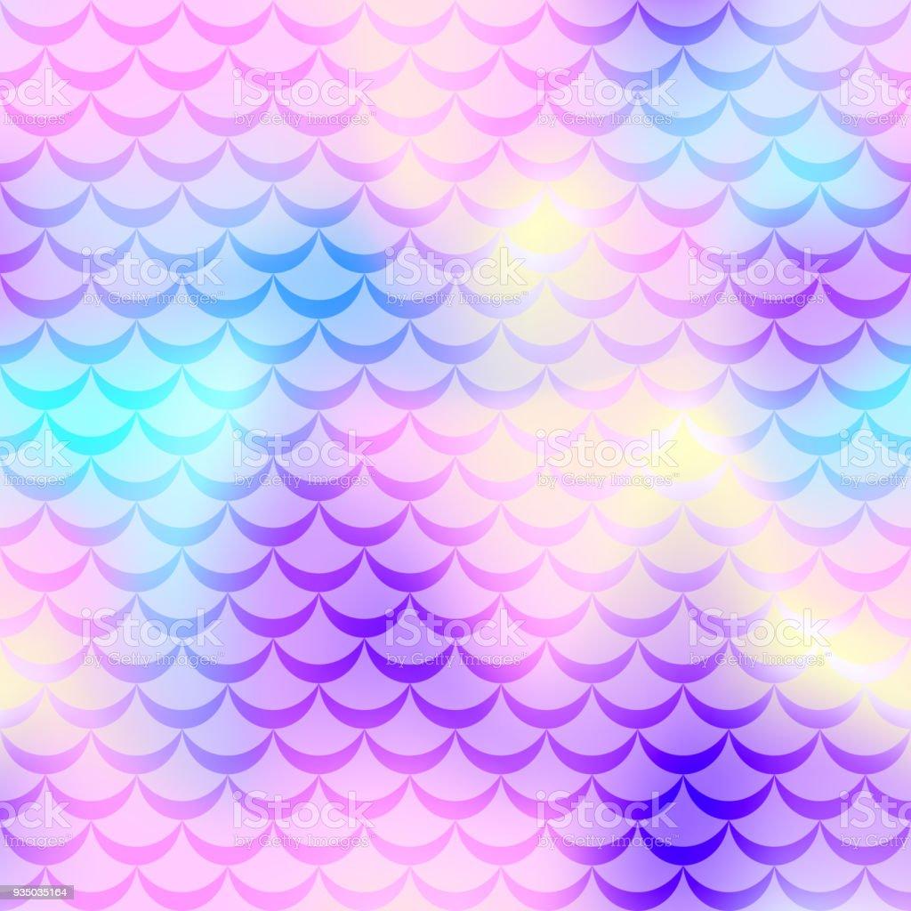 Pastel pink mermaid vector background. Pink blue iridescent background. vector art illustration