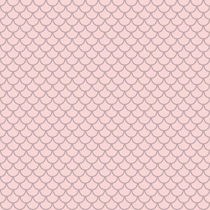 Pastel pink nude, fish scale pattern, geometric simple repeat pattern
