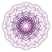 Pastel purple color mandala ornament. Vector illustration