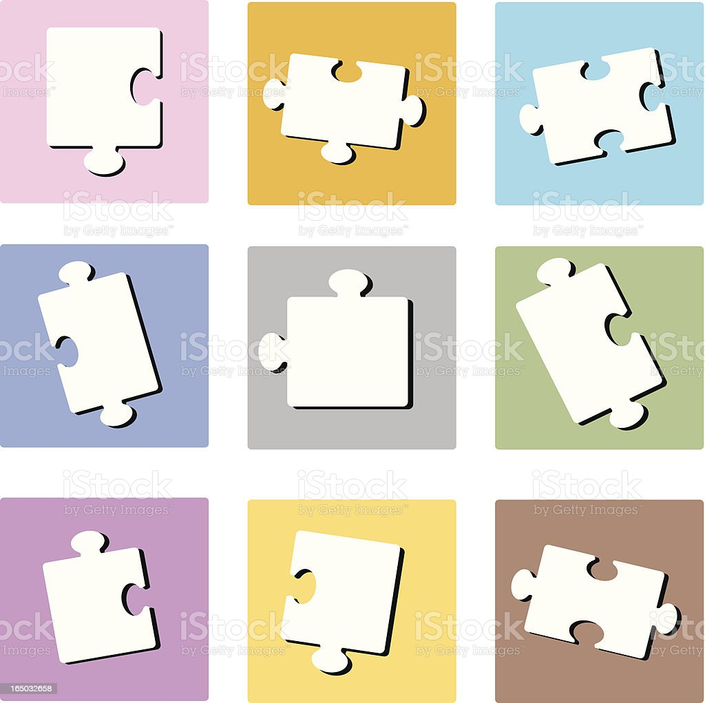 Pastel Puzzle Squares (vector illustration) royalty-free stock vector art