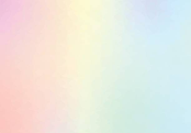 pastel rainbow backgrounds - pastel colored stock illustrations, clip art, cartoons, & icons