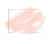 Pastel rose and pink colors vector brush stroke. Square frame or background for text. Abstract background. Ink brush stroke, brush, line or texture.