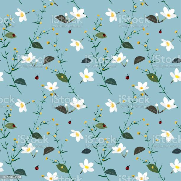 Pastel seamless pattern with wild flower on soft blue background vector id1077942270?b=1&k=6&m=1077942270&s=612x612&h=qmvr4rdlioyti5suouc0dvwlrbbkto9mszeg9pa2qnm=