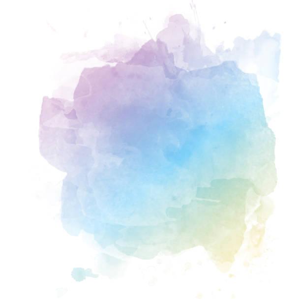 파스텔 수채화 배경 - 수채화 물감 stock illustrations