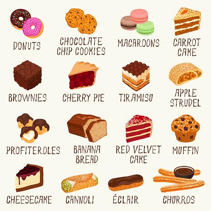 Pastries icons
