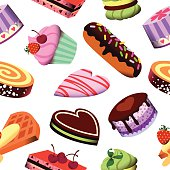 Pastry, Cakes Pattern.62334676