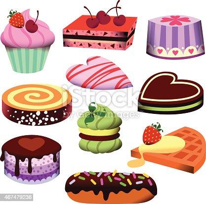 Pastry, Cakes.
