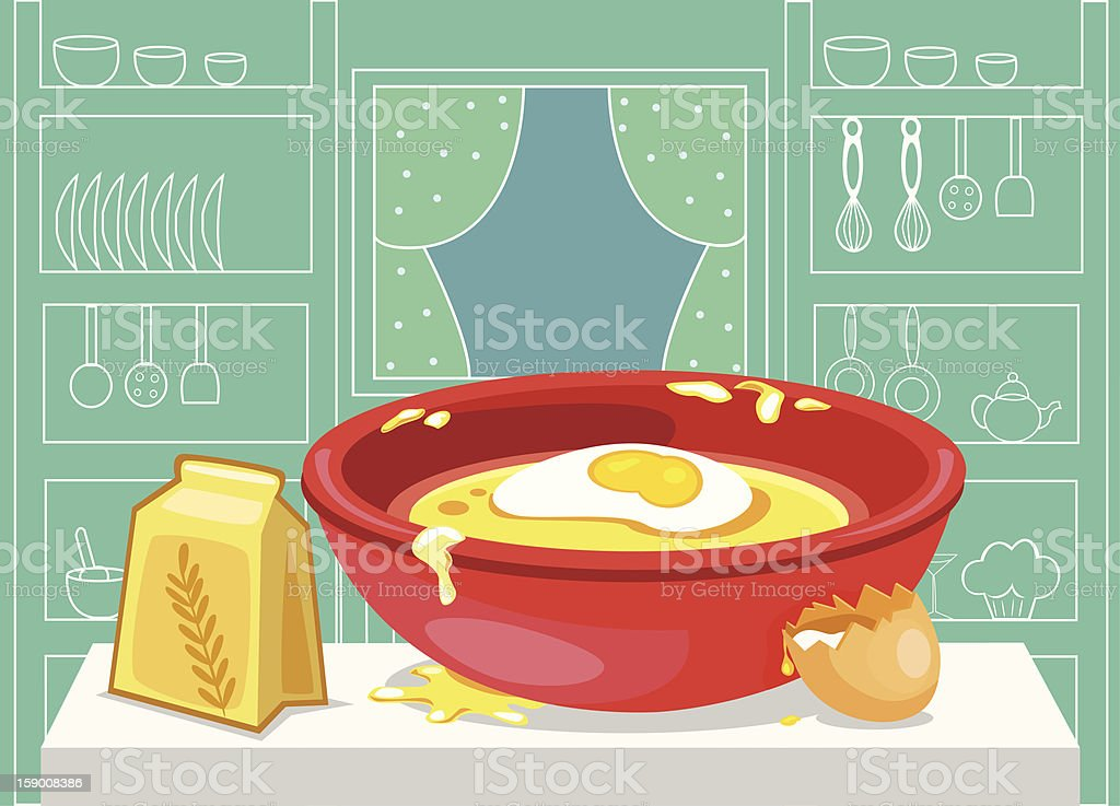 pastry recipe royalty-free stock vector art