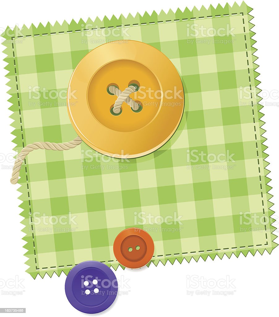 Patch and Buttons royalty-free stock vector art