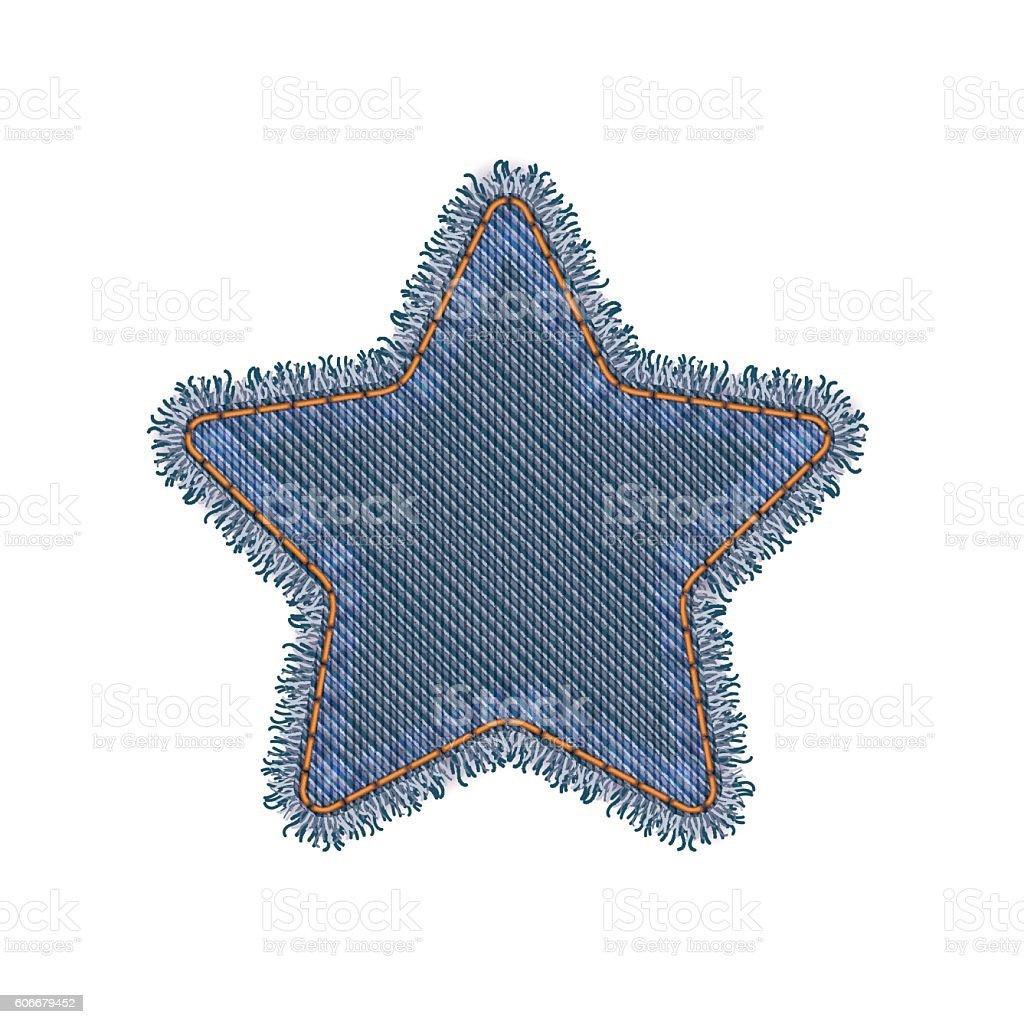 Patch Star Shape - ilustración de arte vectorial