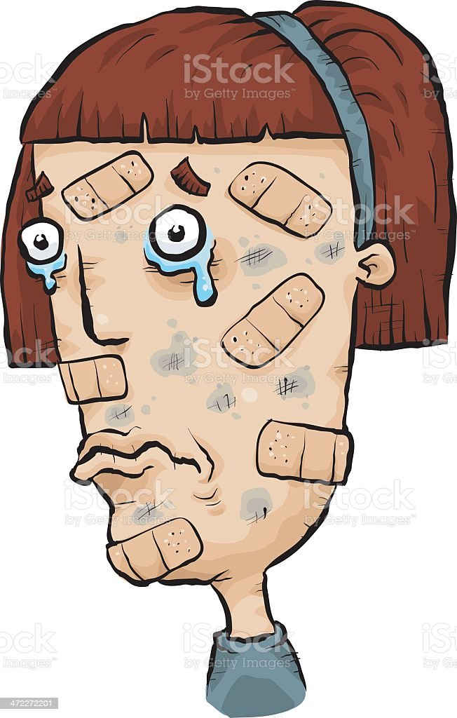Patched Up royalty-free patched up stock vector art & more images of adhesive bandage