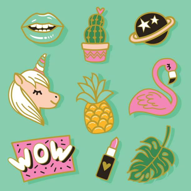 Patches vector art illustration