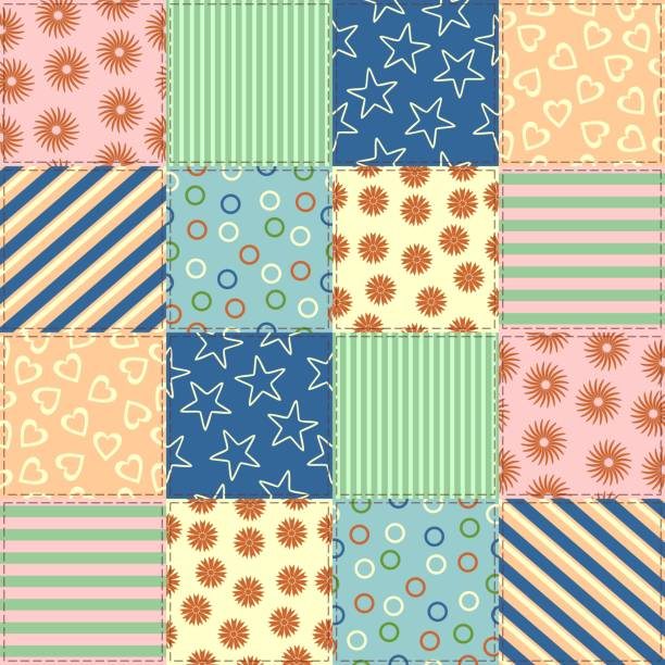 1 696 Patchwork Quilt Illustrations Clip Art Istock