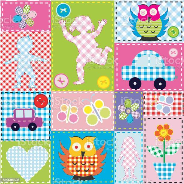 Patchwork for kids with childish elements vector id849085308?b=1&k=6&m=849085308&s=612x612&h=504ircu97ymusmwjyeoyyza06zynlzgpyizdxlt9k6c=