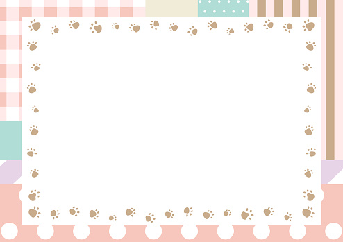 Patchwork illustration of various pattern  stripe gingham check dot