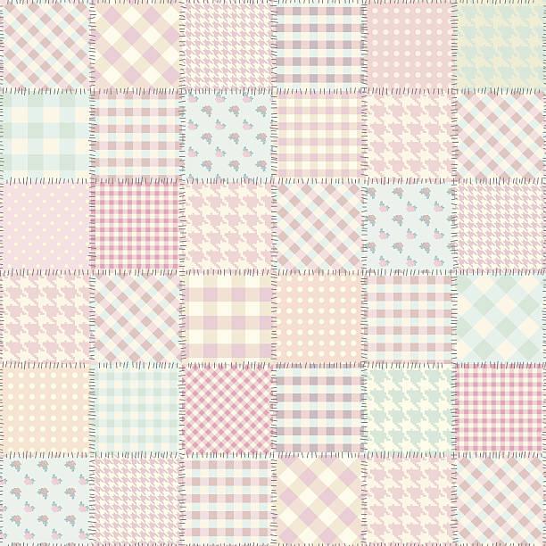 stockillustraties, clipart, cartoons en iconen met patchwork in style shabby chic - patchwork