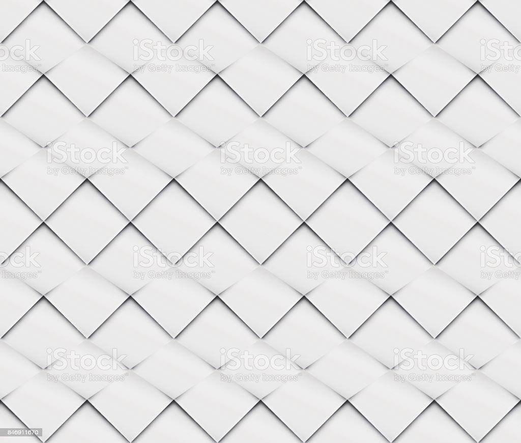 Patchwork Sin Costura Blanco Origami Patrón - Arte vectorial de ...