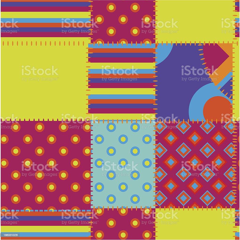 patchwork vector art illustration