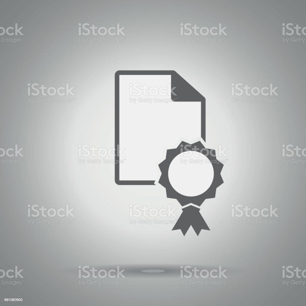 patent icon . Certificate symbol