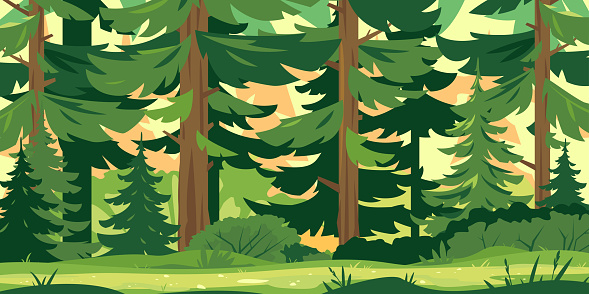 Path through the forest clipart