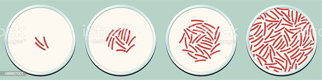 Pathogenic Bacteria Growth royalty-free stock vector art