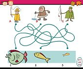 paths or maze education game