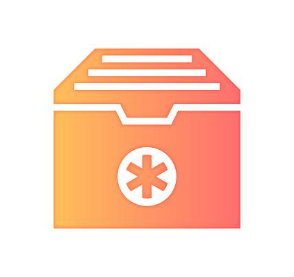 Patient Access Gradient Color & Papercut Style Icon Design