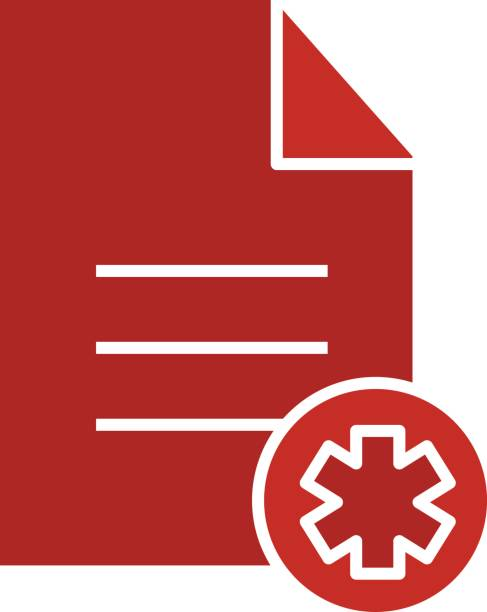 patient card icon vector art illustration