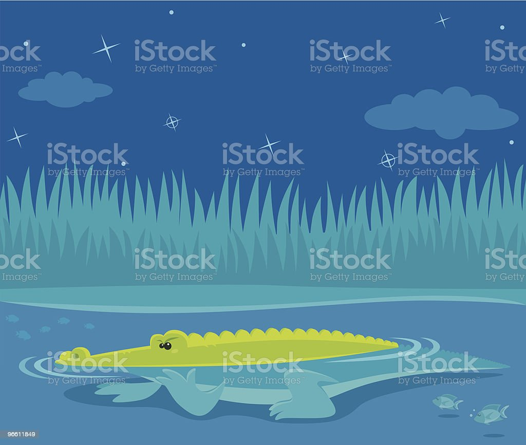 patient crocodile - Royalty-free Alligator stock vector