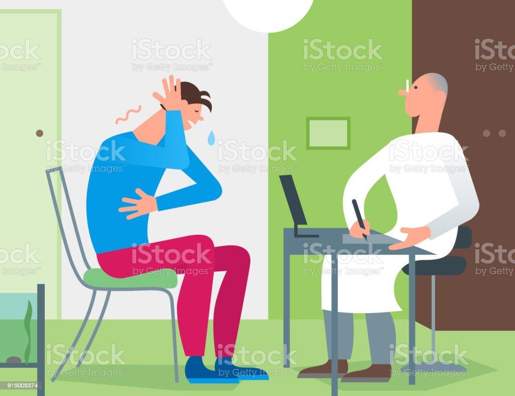 Consultation de médecin patient de bureau thérapeute médecin