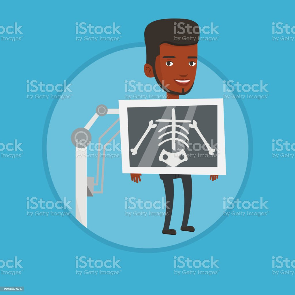 Patient during x ray procedure vector illustration royalty-free patient during x ray procedure vector illustration stock vector art & more images of biomedical illustration